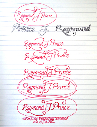 Sketches for Prince signs