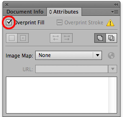 Overprint checkbox