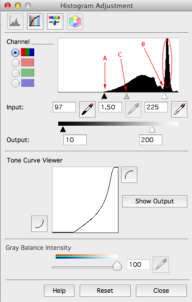Epson Scan Histogram