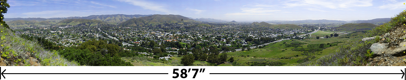 View of San Luis Obispo from Daniel's Point