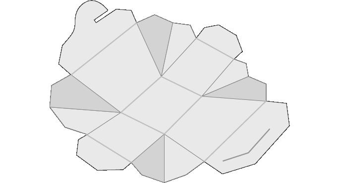 Chinese Food box, folded