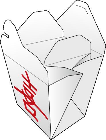 Folded box finished