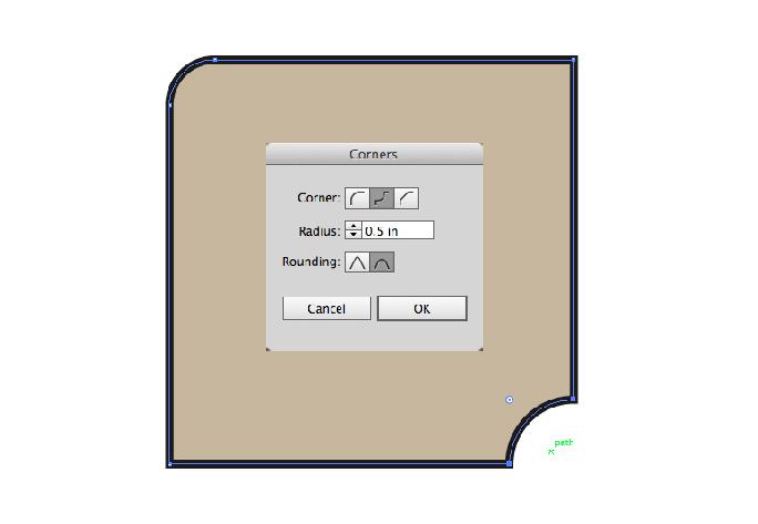 Round corners palette