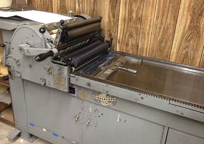 Vandercook proof press