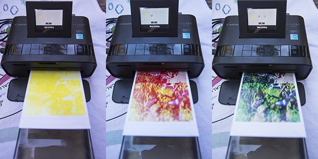 Selphy printer printing