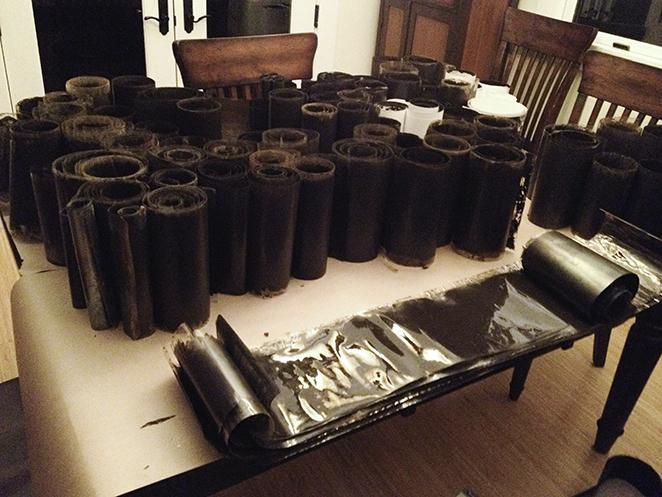 Rolls of pano film