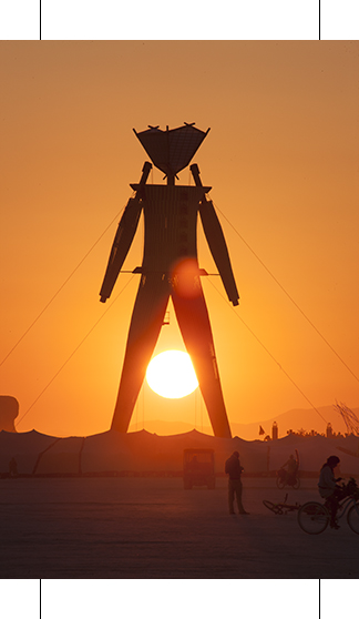 Burning Man at with marks